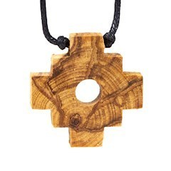 Palo Santo necklace Chakana Inca Cross